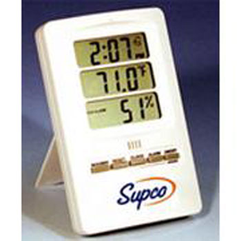 Supco THC Indoor Digital Thermo Hygrometer with Clock